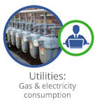 Utilities gas and electricity consumption