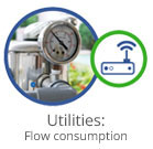 Utilities flow consumption